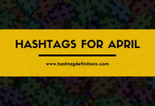 Hashtags for April