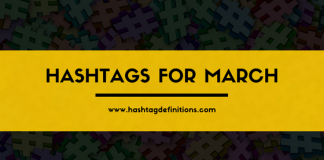 Hashtags for March