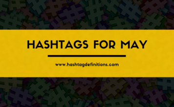 Hashtags for May
