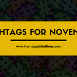 Hashtags for November