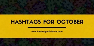 Hashtags for October