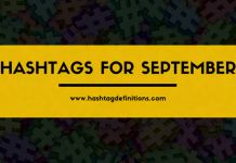 Hashtags for September