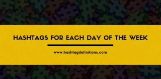 Hashtags for Each Day of the Week - Hashtag Definitions