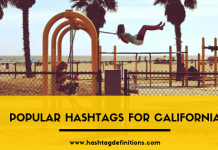 Popular Hashtags For California