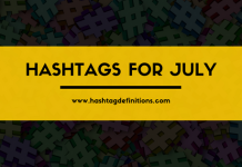 Hashtags for July