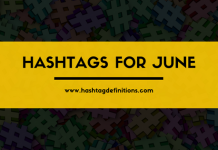 Hashtags for June